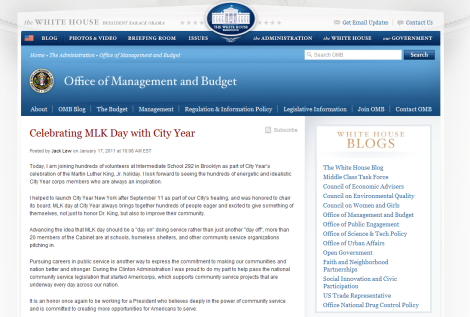 We wonder if President Obama subscribes to this blog...